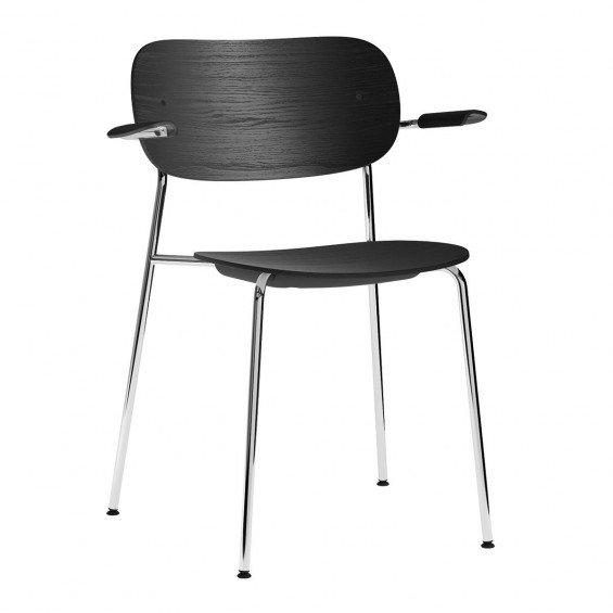 Menu Co Chair Stoel Chromen Onderstel Met Armleuning
