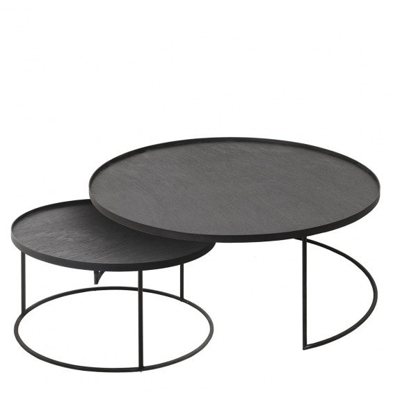 Ethnicraft Round Tray Table Set