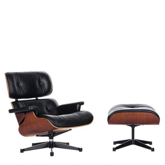 Vitra Eames Lounge chair Ottoman kersen