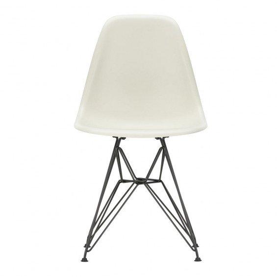 Vitra Eames Plastic Chair DSR Stoel Zwart Onderstel