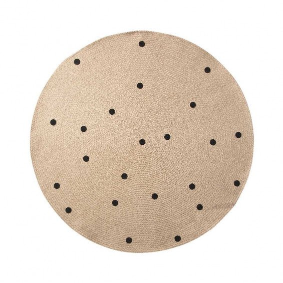 Ferm Living Jute Black Dots Vloerkleed Small