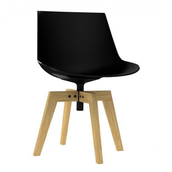 MDF Italia Flow Chair, Eiken Onderstel