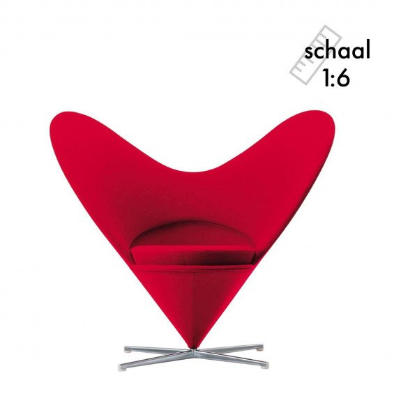 Heart-Shaped Cone Chair Miniatuur