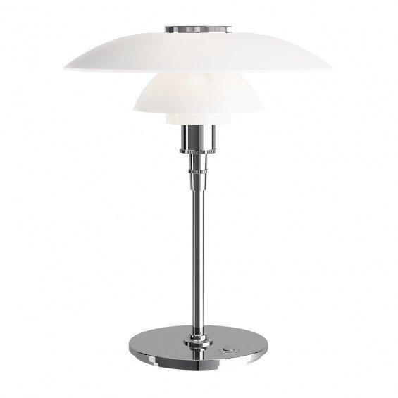 Louis Poulsen PH 4,5-3,5 Glas Tafellamp - Hoogglans Verchroomd