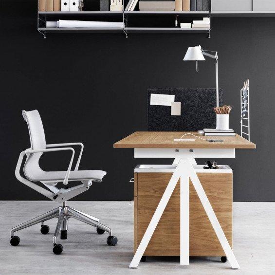 Works Bureau & Mobile Opbergkast & Physix Bureaustoel Thuiswerkplek