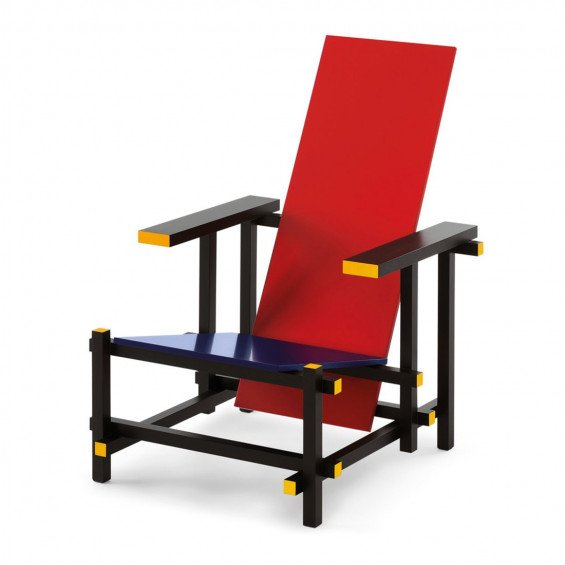 Cassina Red And Blue Stoel