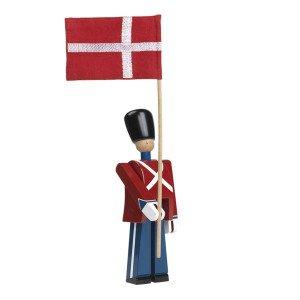 Vlaggendrager, met katoenen vlag