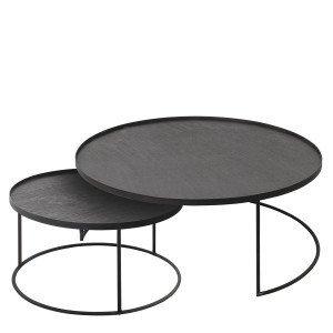 Round Tray Table, set van 2