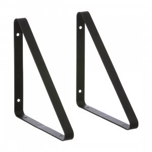 Metal Shelf Hangers Zwart
