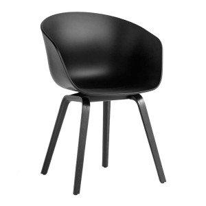 About A Chair AAC 22 Stoel Zwart Gelakt
