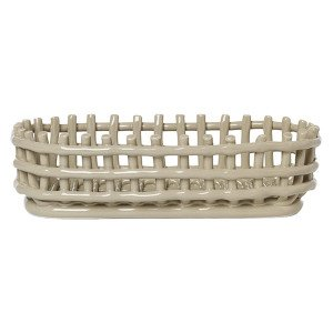 Ceramic Basket Ovaal