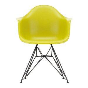 Eames Plastic Chair DAR Zwart Onderstel