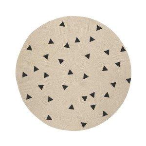 Jute Vloerkleed Black Triangles Small