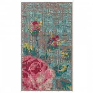Flowers Canevas Vloerkleed, 80 x 145