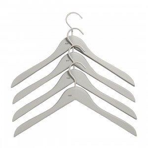 Soft Coat Slim Hanger Kleerhanger Grijs, set van 4