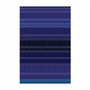 Zig Zag Vloerkleed Blauw