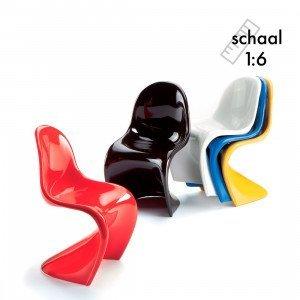 Panton Chairs, set van 5x Miniatuur