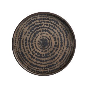 Ethnicraft Black Beads Dienblad