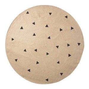 Ferm Living Jute Black Triangles Vloerkleed Large