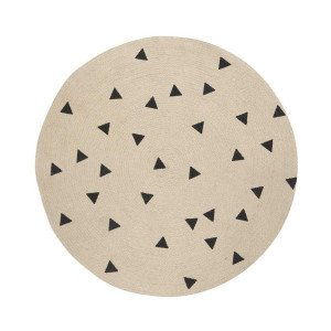 Ferm Living Jute Vloerkleed Black Triangles Small