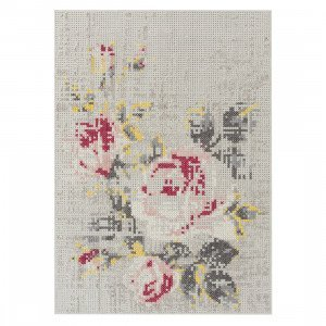 Gan Rugs Flowers Natural Canevas Vloerkleed 170 x 240