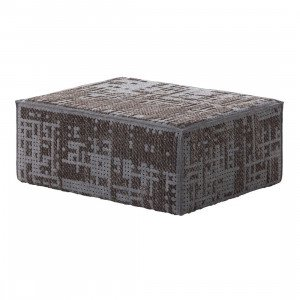 Gan Rugs Modular Abstract Poef Charcoal Canevas