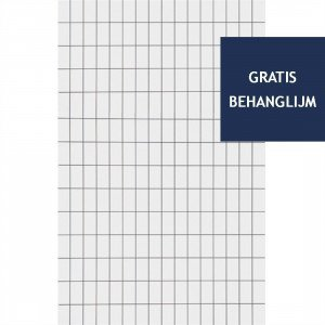 Ferm Living Grid Behang Zwart / Wit