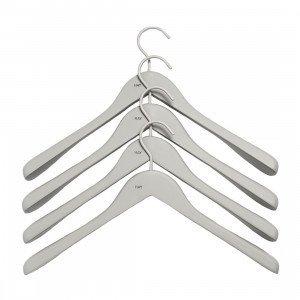 HAY Soft Coat Wide Hanger Kleerhanger Grijs, set van 4
