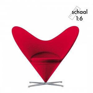 Vitra Heart-Shaped Cone Chair Miniatuur
