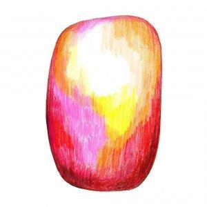 Moooi Carpets Scribble Vloerkleed Rood/Geel