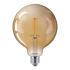 Philips LED E27 G120 Filament lichtbron 8W Dimbaar