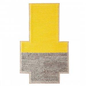 Gan Rugs Plait Mangas Space Vloerkleed Yellow