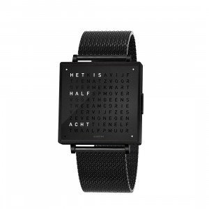 Biegert & Funk Qlocktwo Watch Black Steel