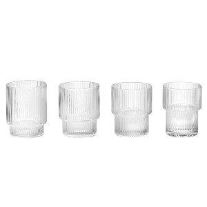 Ferm Living Ripple Glas, set van 4