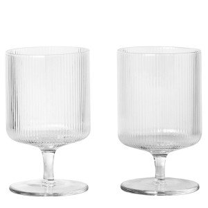 Ferm Living Ripple Wijnglas - set van 2