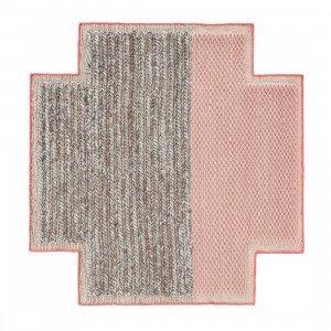 Gan Rugs Square Rhombus Mangas Space Vloerkleed Pink S
